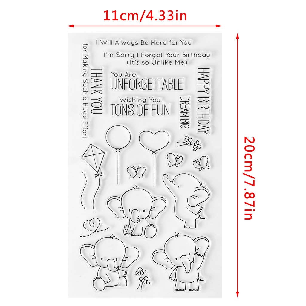Kalttoy DIY Silikon Klar Stempel Blatt Scrapbooking Album Foto DIY Weihnachten Valentinstag Thanksgiving Geschenke