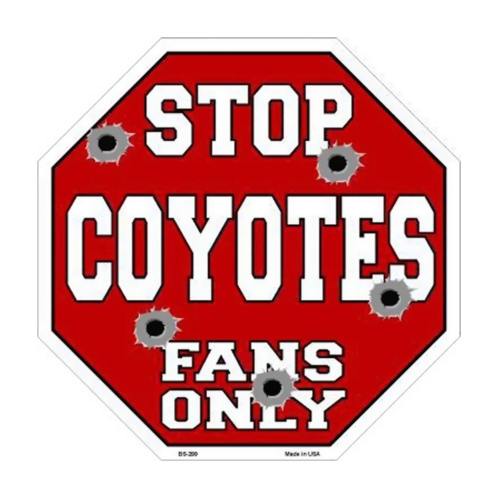 スマートブロンドCoyotesファンのみメタルノベルティOctagon Stop Sign bs-299 B01BSYK5PQ 14322