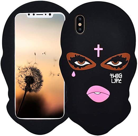 Amazon Com Black Mask Case For Iphone Xr 6 1 3d Cartoon Animal Design Cute Soft Silicone Rubber Protective Cover Kawaii Animated Stylish Fashion Cool Skin For Kids Child Teens Girls Women Iphone Xr