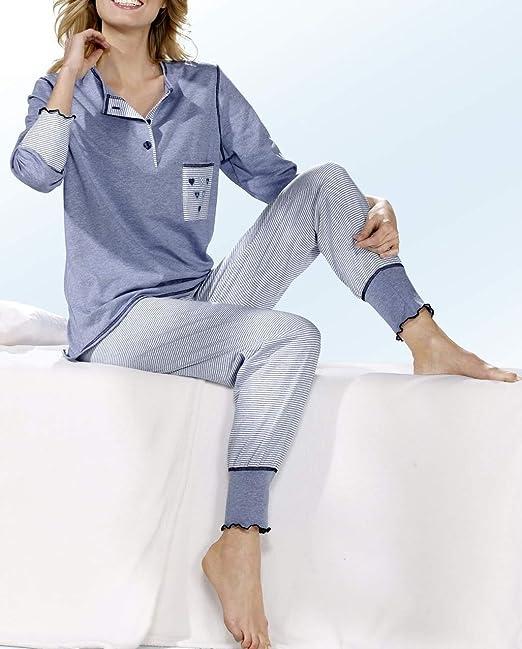 Ensemble de pyjama d/écontract/é /à manches longues en coton Pyjama pour femme
