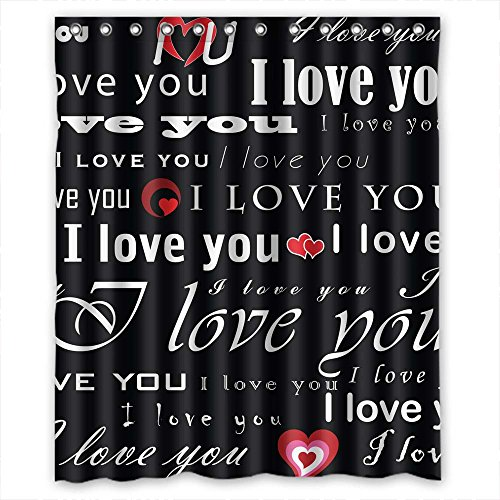 Monadicase Polyester Love Bathroom Curtains Width X Height / 60 X 72 Inches / W H 150 By 180 Cm Best Choice For Husband Family Her Hotel Boys. Mildew Resistant - (Flame Dancer Costume)