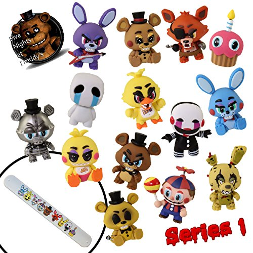 [Funko FNaF 1 2 3 Five Nights at Freddy's Game (Complete 11 + 3 Bonus Piece Set) Toys Mystery Minis Action Figures & Slap Bracelet - Crying Child Endoskeleton Freddy Fazbear Toy] (Costume Catwoman Vinyl)