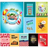 "Ultimate Assorted Seasonal Garden Flags 10-Piece Set | Thick Double-Sided 12"" x 18"" Polyester Outdoor Flags 