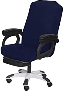 SARAFLORA Navy Office Chair Covers Stretch Washable Computer Chair Slipcovers for Universal Rotating Boss Chair Middle Size