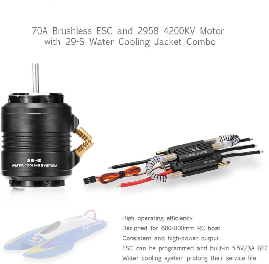 Baoblaze Moteur Brushless 4200kv 2958 41mm Refroidissant Veste ESC pour Bateau RC