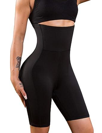 40e12a8be06 Nebility Women Waist Trainer Shapewear High Waist Thigh Slimmer Tummy  Control Butt Lifter Panty (S