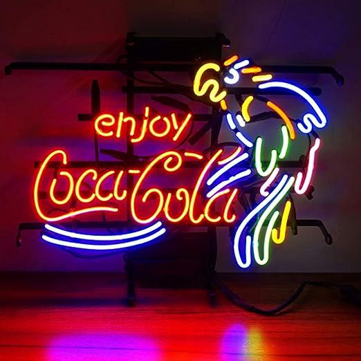 Enjoy CocaCola - con luz de neón, Póster, diseño de faro de ...