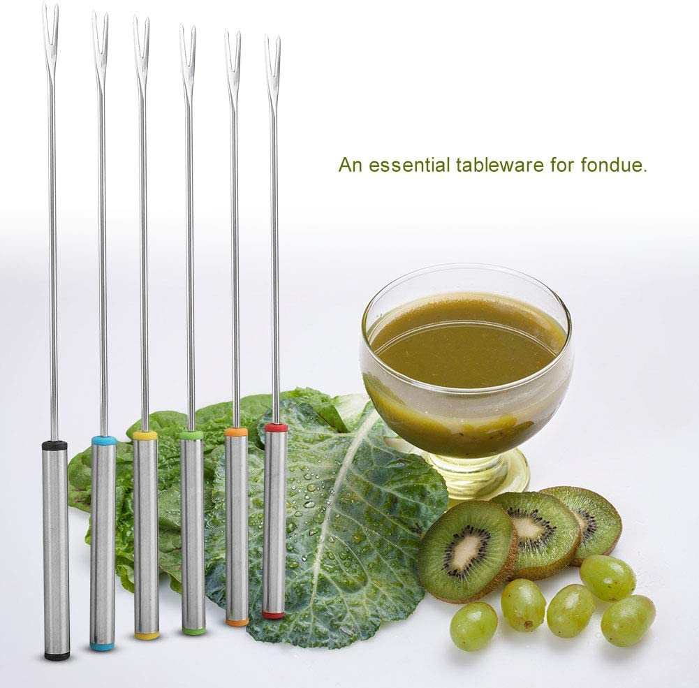 DaMohony Fondue Forks Stainless Steel Dessert Fondue Forks Kitchen Tool Tableware 6pcs//Set