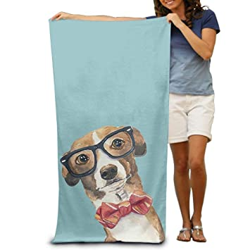 xcvgcxcvasda Toalla de baño para Perro, con Estampado de ilustración, Toalla de Playa Suave de 31 x 51 Pulgadas, diseño de patrón único: Amazon.es: Hogar