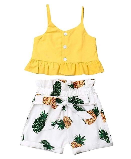 Amazon.com: Conjunto de camiseta y pantalones vaqueros sin ...
