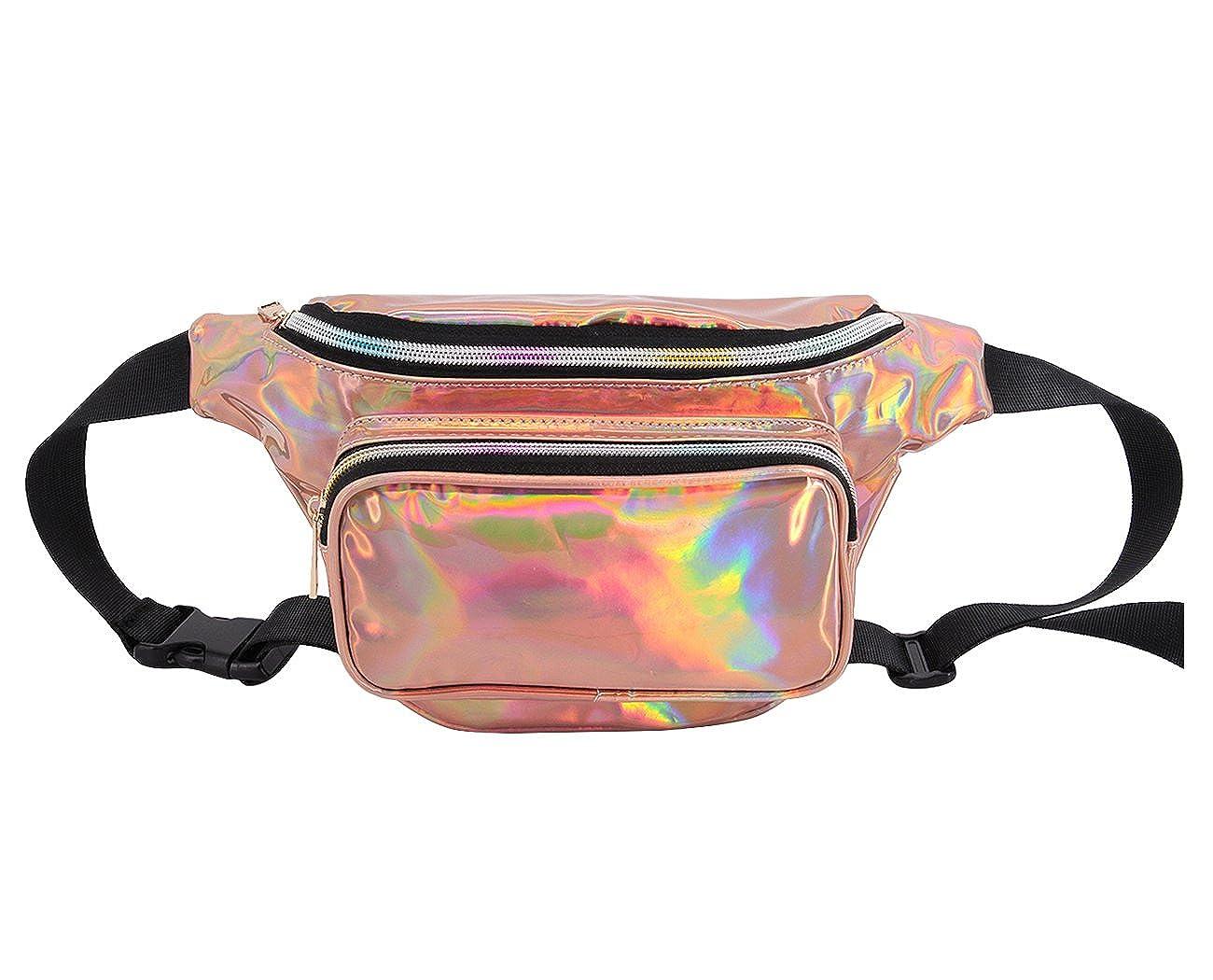 Novias Boutique Unisex PVC Hologram Belt Waist Bum Bag Fanny Pack