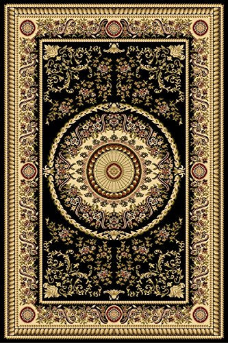 Maxy Home Istanbul Hand Carved Area Rugs 5-Feet by 7-Feet