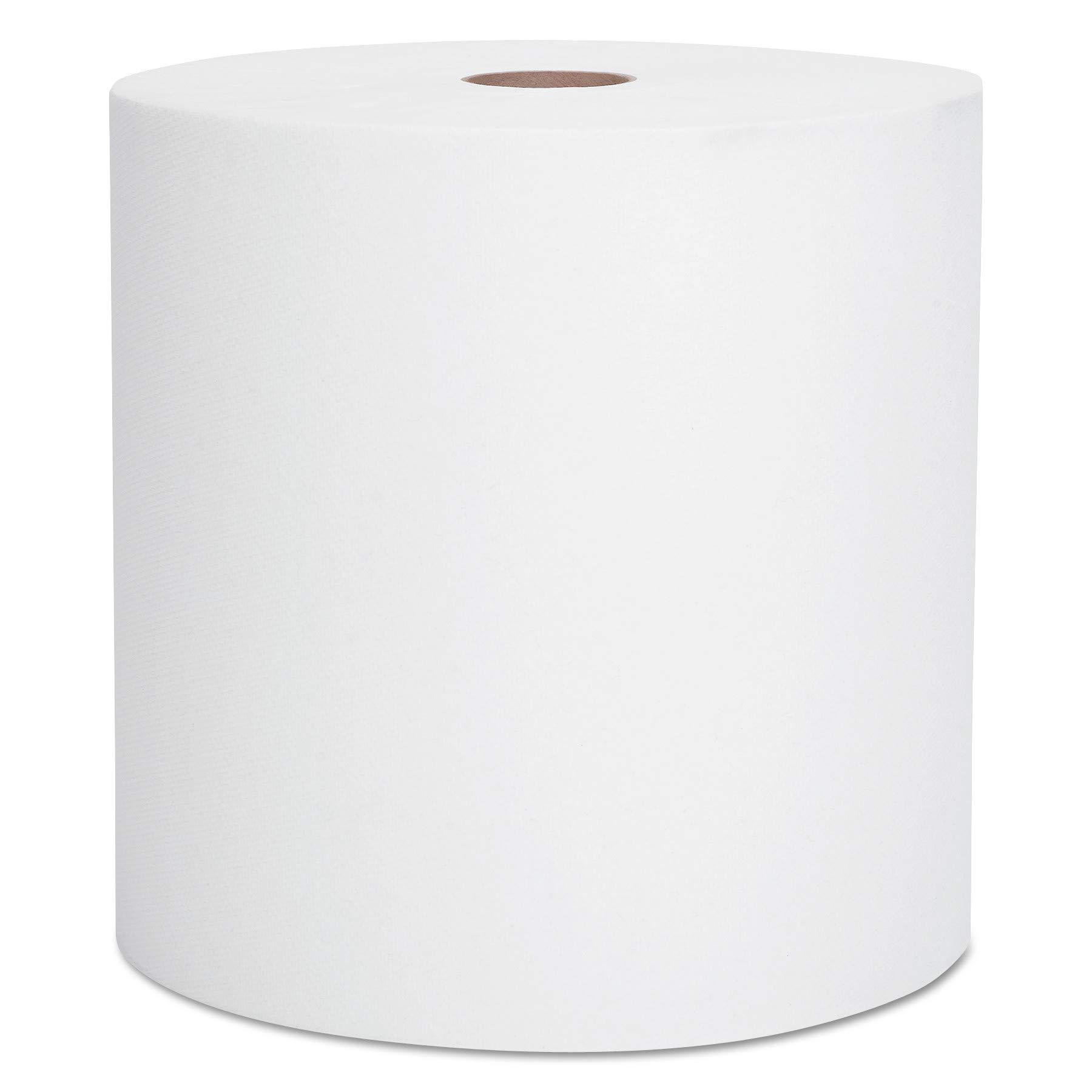 Scott 01000 Hard Roll Towels, 1.5'' Core, 8 x 1000ft, White (Case of 12 Rolls)