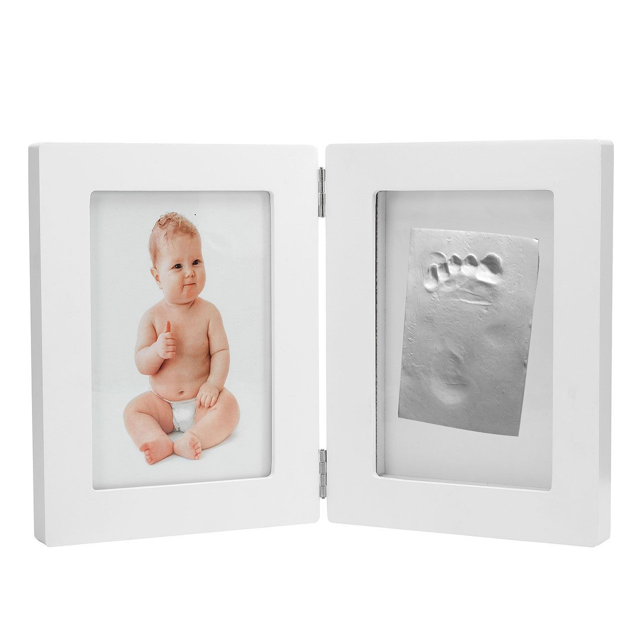 CozyCabin BABY HAND or FOOTPRINT PICTURE FRAME KIT, Cool & Unique Baby Shower Gifts for Registry, Memorable Keepsakes Decorations, Premium Clay & Wood Frame by CozyCabin