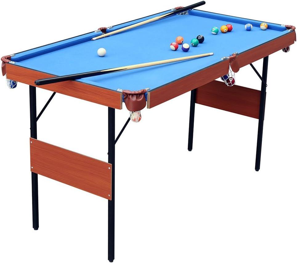 ビリヤードテーブル 55インチ 折りたたみ式 プールテーブル 省スペース ビリヤードテーブルゲーム 子供と大人用