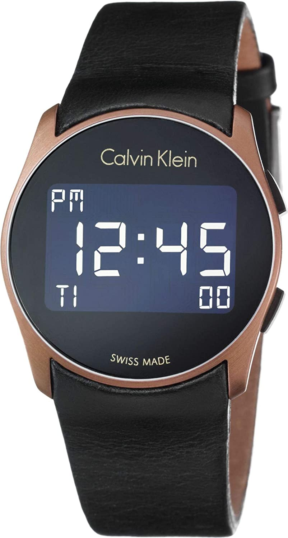 Calvin Klein Reloj Digital para Hombre de Cuarzo con Correa en Caucho K5B13YC1