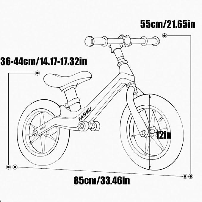 YGBH Balance de Bicicletas para los niños de 12 Pulgadas sin Pedal ...