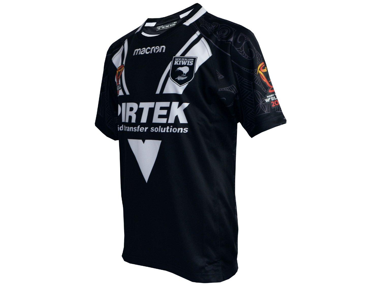 9d329c6ef63 Macron New Zealand Kiwis Rugby Jersey Black All Gold All Blacks New Zealand  Rugby Shirt T-Shirt: Amazon.co.uk: Sports & Outdoors