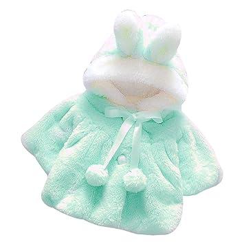 5b3b6b2aa Amazon.com   Baby Girls Warm Clothes Infant Cute Fur Winter Hooded ...