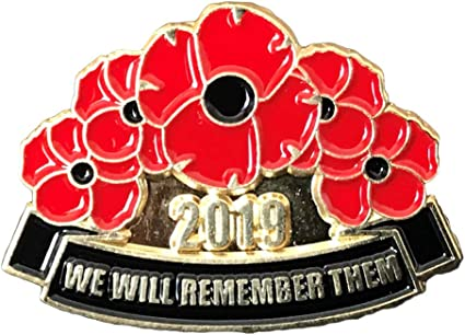 New 2019 Remembrance Day Army Veteran Soldier Red Poppy Enamel Pin Badge Brooch