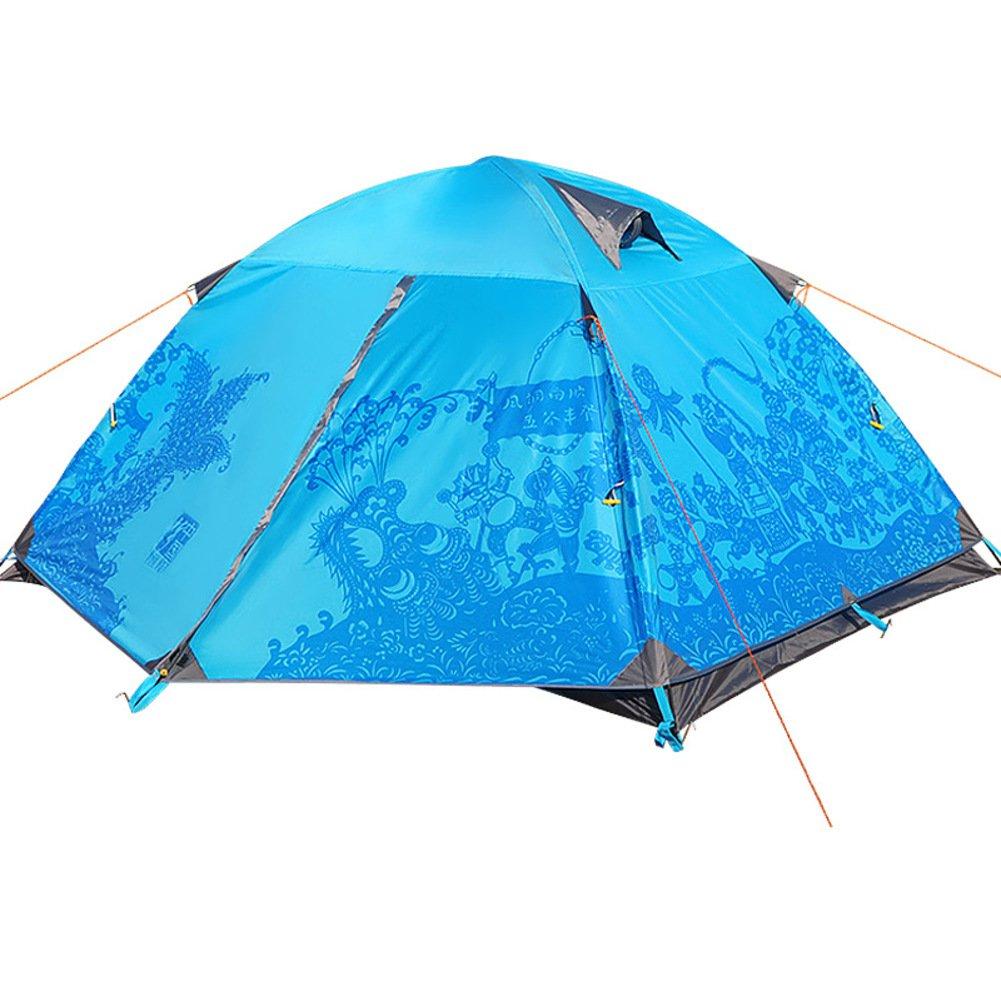 Kuppelzelte, Zelt Für 2 Personen Water Resistant Aluminiumstange Double-layer Outdoor Supplies Campingausrüstung Mit Großen Öffnungen Mit Tragebag Outdoor Zelten