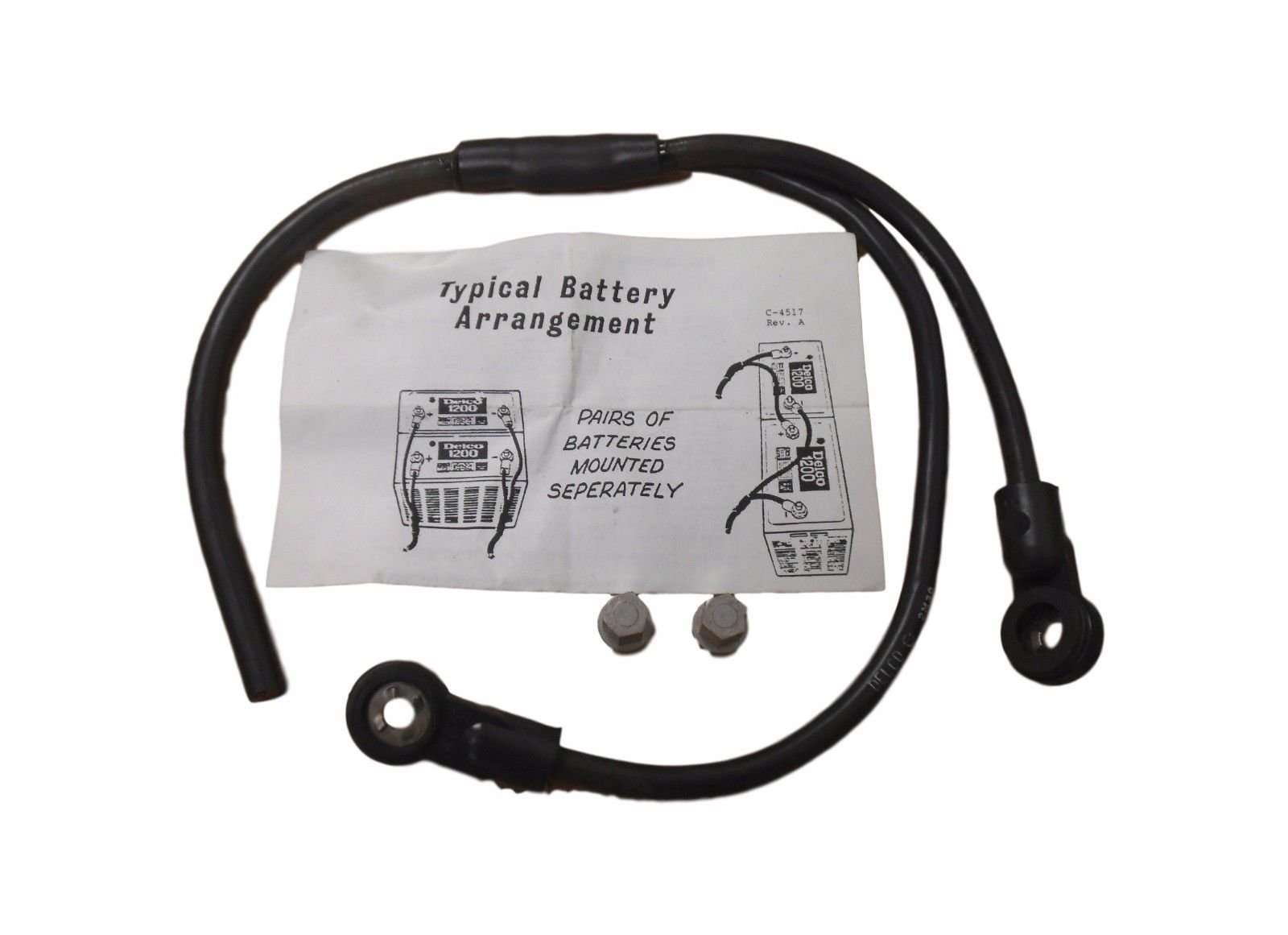 Delco 2M30 Battery Cable for Model 1200 Battery 12V Commercial Truck 112001748 by Delco