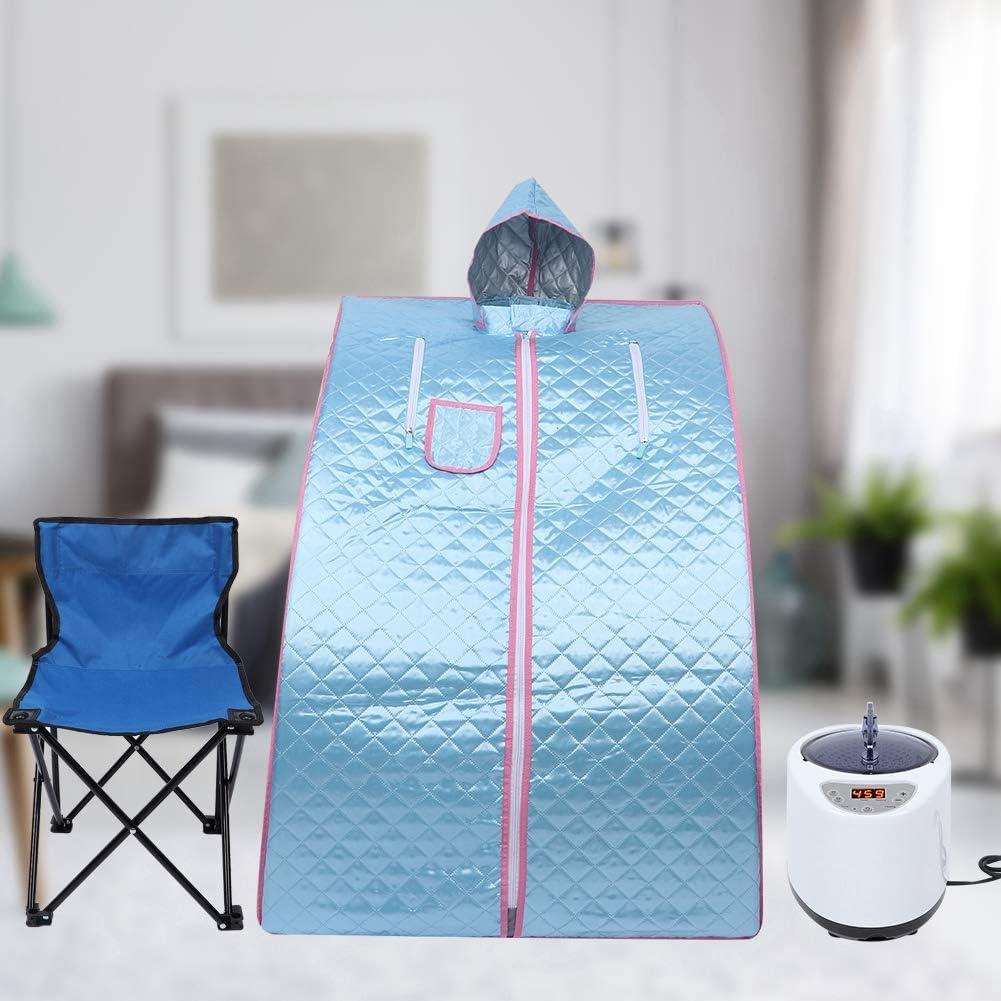Sauna /à Vapeur Portable Chaise Pliable Sauna pour Une Personne avec t/él/écommande Tente de Sauna 2.6L Personal Therapeutic Sauna Home Spa pour la Perte de Poids Detox Relaxation Minceur EU