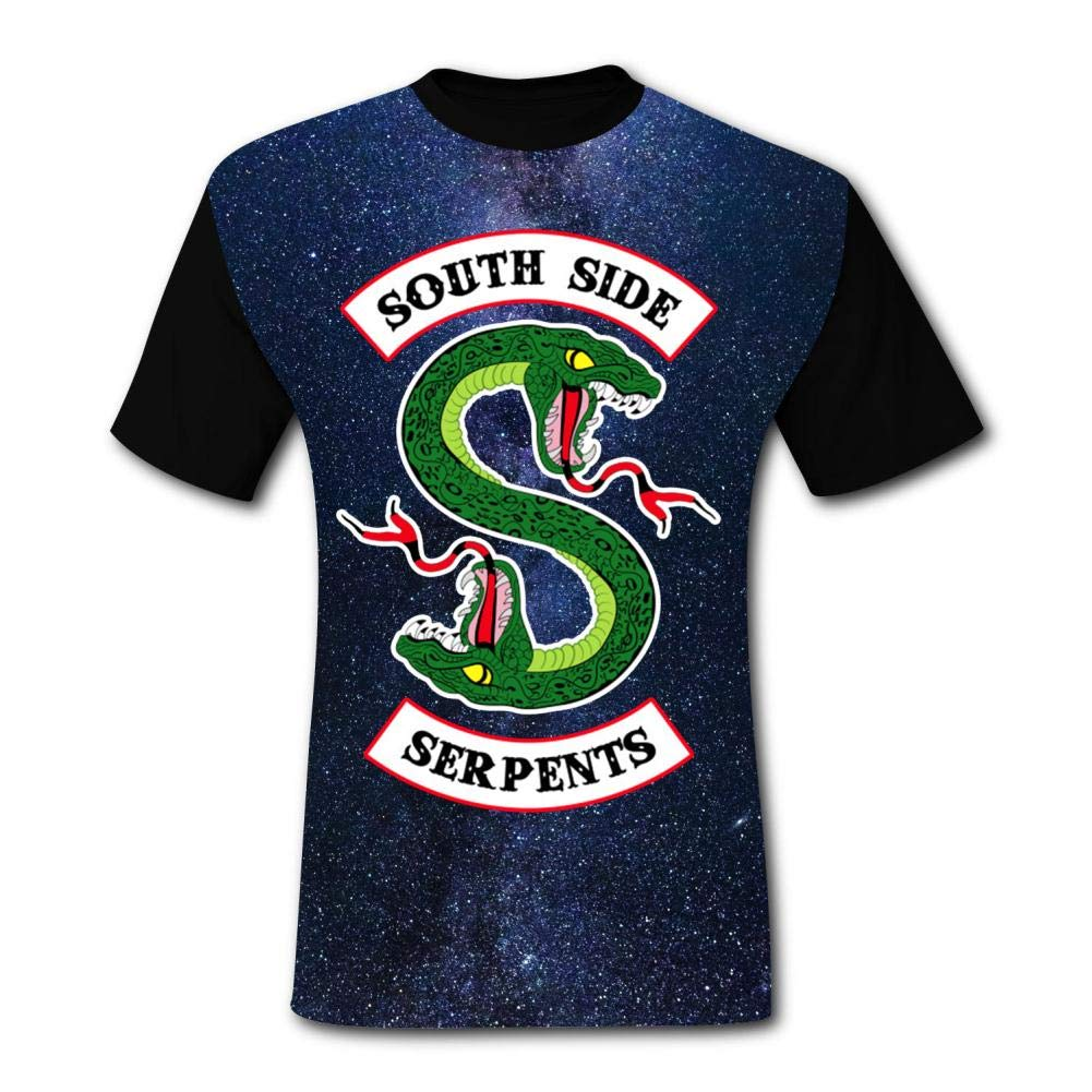 Fashion River-Dale South-Side Ser-pents T Shirts Sport Short Sleeve Fast Drying BEKAI Mens Hipster Tee
