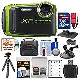 Fujifilm FinePix XP120 Shock & Waterproof Wi-Fi Digital Camera (Lime Green) with 32GB Card + Case + Battery + Flex Tripod + Strap + Car Mounts + Kit