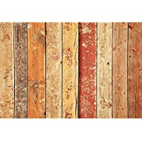 Allenjoy 5x3ft Polyester Photography Backdrop Aged Barn Wood Background for Studio Shooting Photo Booth