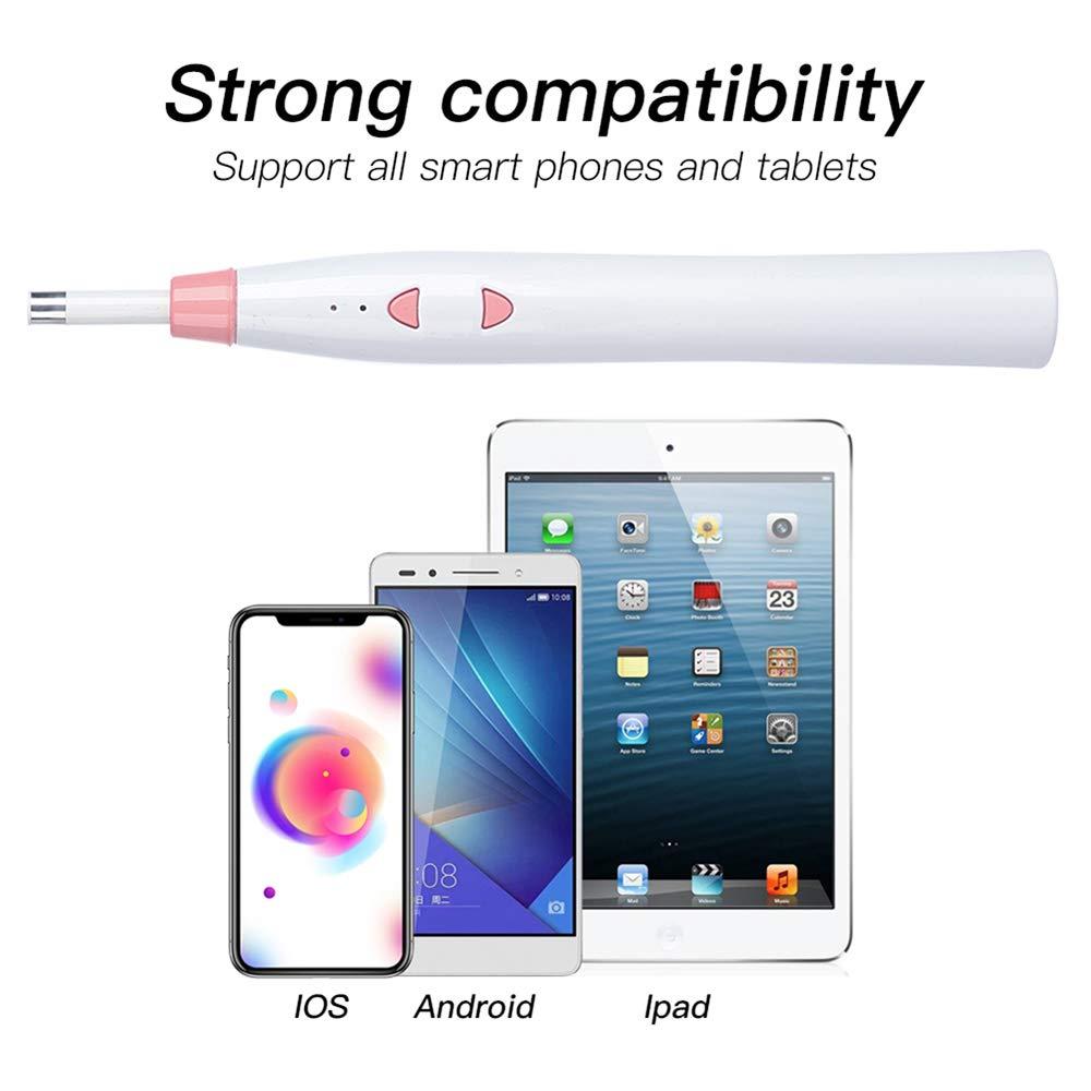 iPad IOS PC LittleMokey WIFI Griff Ohr Otoskop Reinigung Endoskop Reiniger 1.0MP HD Digital Infektionskamera 6 LED Licht EarWax Tool f/ür iPhone Android Blau
