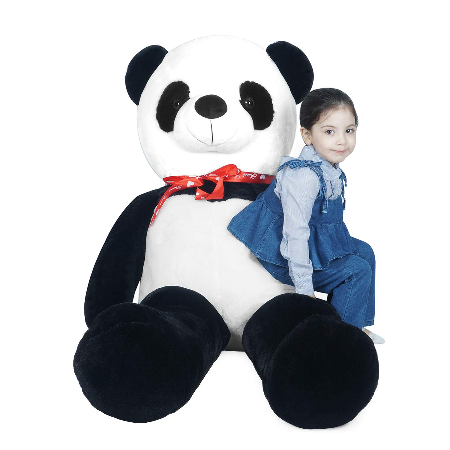 LOVOUS Super Soft Giant Stuffed Animal Panda Bear Plush Toy Gifts Kids, 5.2ft(62'') by LOVOUS