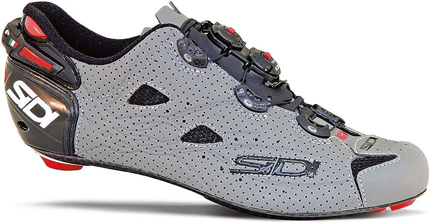 SIDI Shot Air Road Zapatillas de ciclismo, 42, Negro/Gris Mate: Amazon.es: Deportes y aire libre