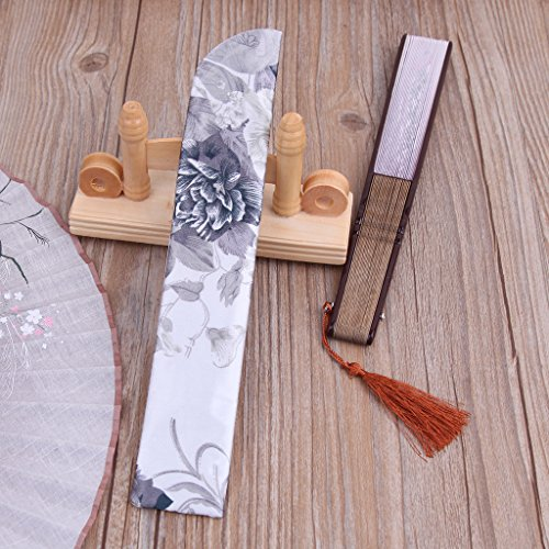 Yeahii Elegant Silk Hand Fan Bag Holder Pouch Folding Hand Fan Case Party Wedding Bags by Yeahii (Image #5)