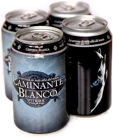 PACK 4 latas Cerveza Artesana Caminante Blanco 33 cl: Amazon.es ...
