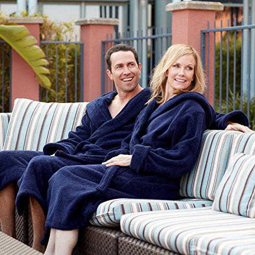 6a1c0083f5 Comfy Robes Women s Deluxe 20 oz. Turkish Cotton Hooded Bathrobe