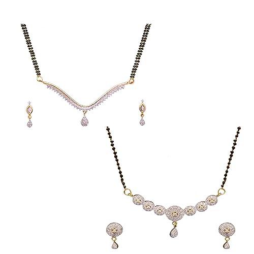 10e8d750a Buy Sitashi Fashion Jewellery AD American diamond Mangalsutra ...