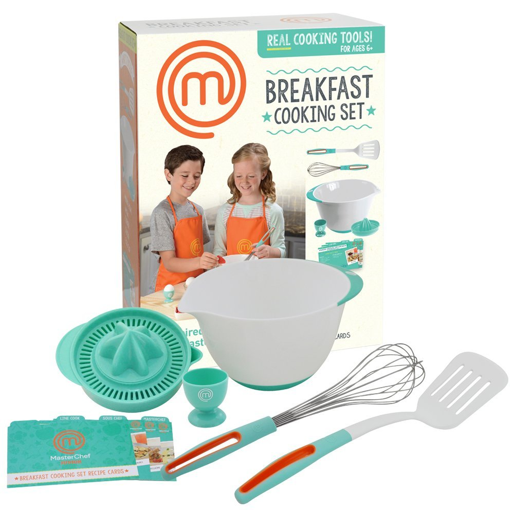 MasterChef Junior Breakfast Cooking Set - 6 Pc Kit Includes Real Cooking Tools for Kids and Recipes by MasterChef Junior