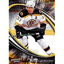 Patrice Bergeron Hockey Card 2008-09 UD Power Play #24 Patrice Bergeron