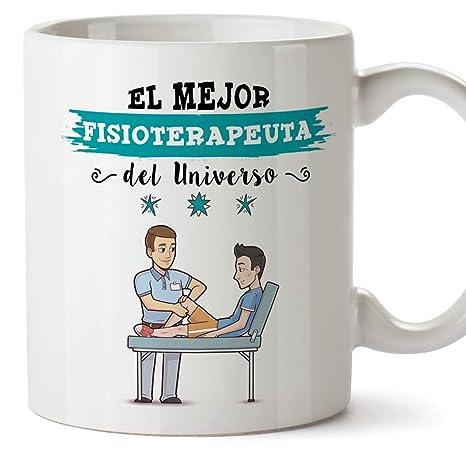 MUGFFINS Fisioterapeuta Tazas Originales de café y Desayuno para Regalar a Trabajadores Profesionales - Esta Taza Pertenece al Mejor Fisioterapeuta ...