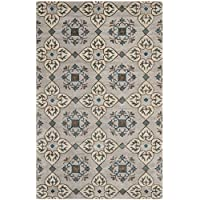 Safavieh Wyndham Collection WYD617A Handmade Beige and Multi Wool Area Rug, 4 feet by 6 feet (4 x 6)