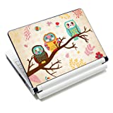 """ICOLOR Laptop Skin Sticker Soft Vinyl Decal Cover for 12.1"""" 13.3"""" 14.1"""" 15.4"""" 15.6 inch Sony HP Asus Acer Toshiba Dell Notebook Three Owls"""