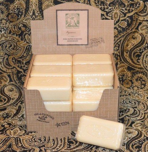 case-of-18-pre-de-provence-agrumes-citrus-fruits-150-gram-shea-butter-large-soap-bars