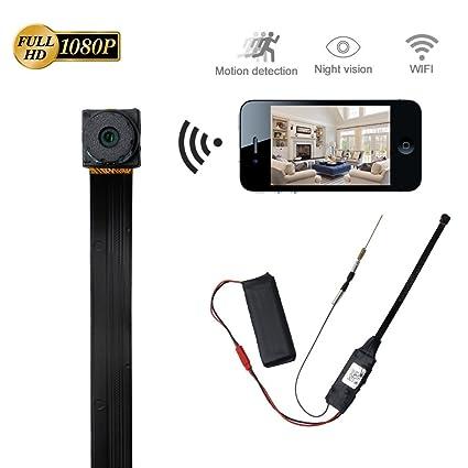 Cámara Espía Wifi LXMIMI HD 1080P Spy Mini Wifi Cámara Portátil Inalámbrico con Luz Baja Bisión