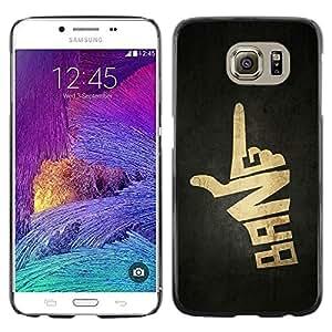 LECELL -- Funda protectora / Cubierta / Piel For Samsung Galaxy S6 SM-G920 -- Bang Hand Sign Gun --