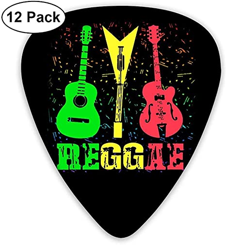 Reggae Rasta Guitar Music Classic Picks 12 Pack para guitarra ...