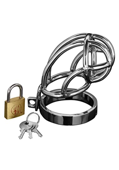 Locking chastity device