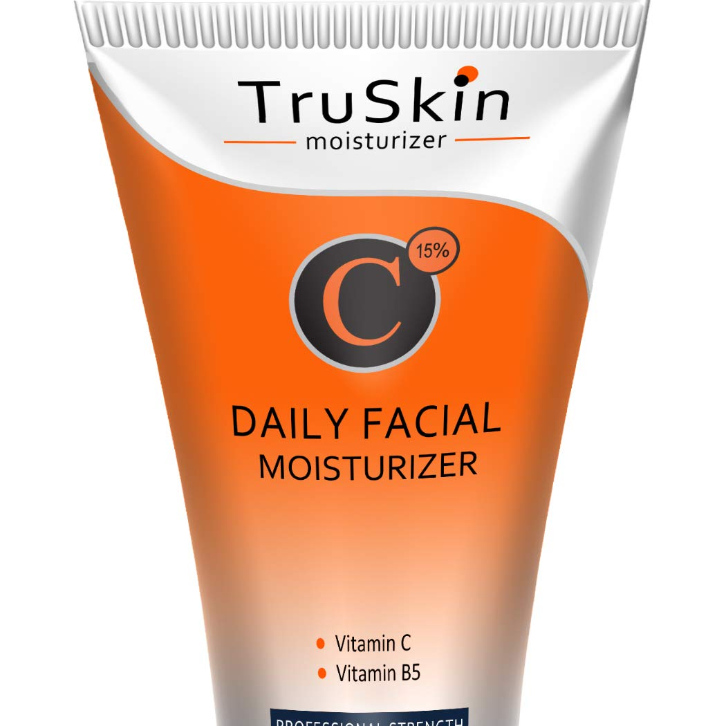 BEST Vitamin C Moisturizer Cream for Face - For Wrinkles, Age Spots, Skin Tone, Firming, and Dark Circles. 4 Fl. Oz by TruSkin Naturals (Image #1)