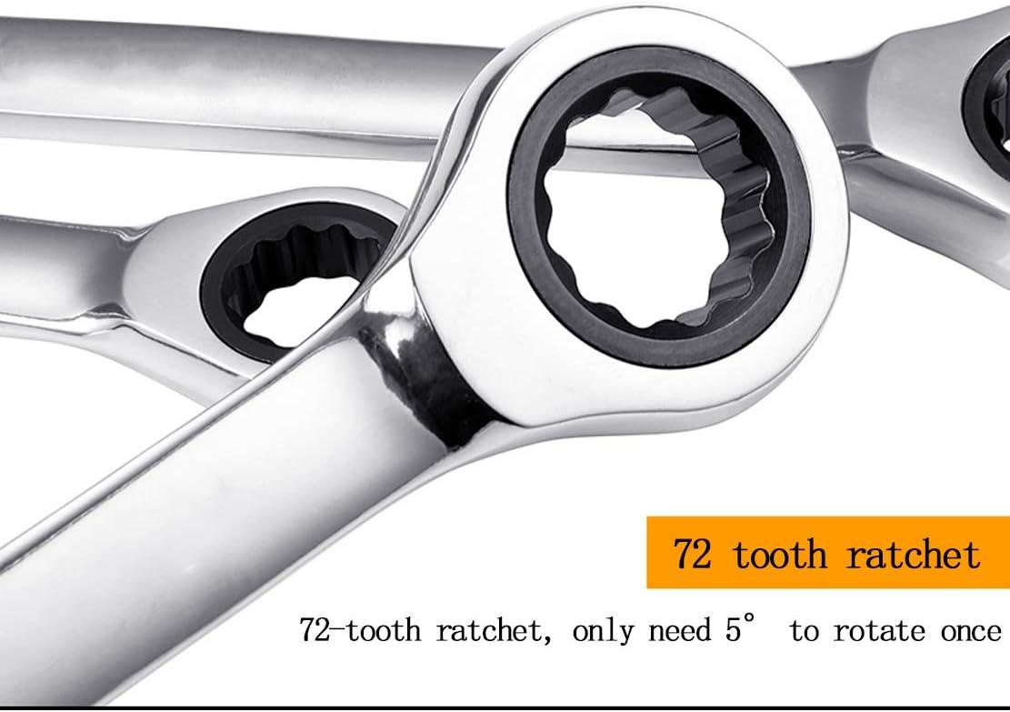 HIOD 72 Dents Cl/é /à Cliquet Cl/é Ouverte M/étrique 6-32mm Multifonction Usage Double Cl/é