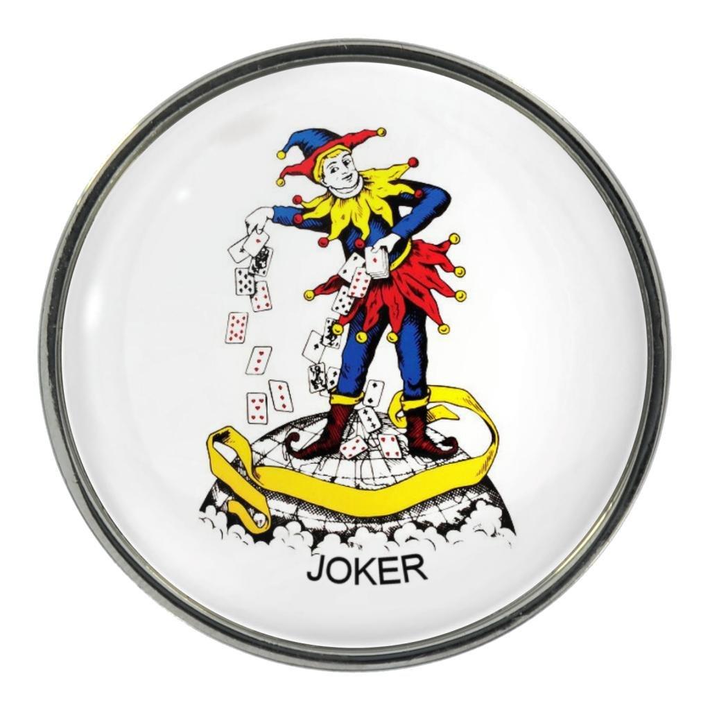 Amazon com: Joker Playing Card Design Metal Pin Badge: Clothing